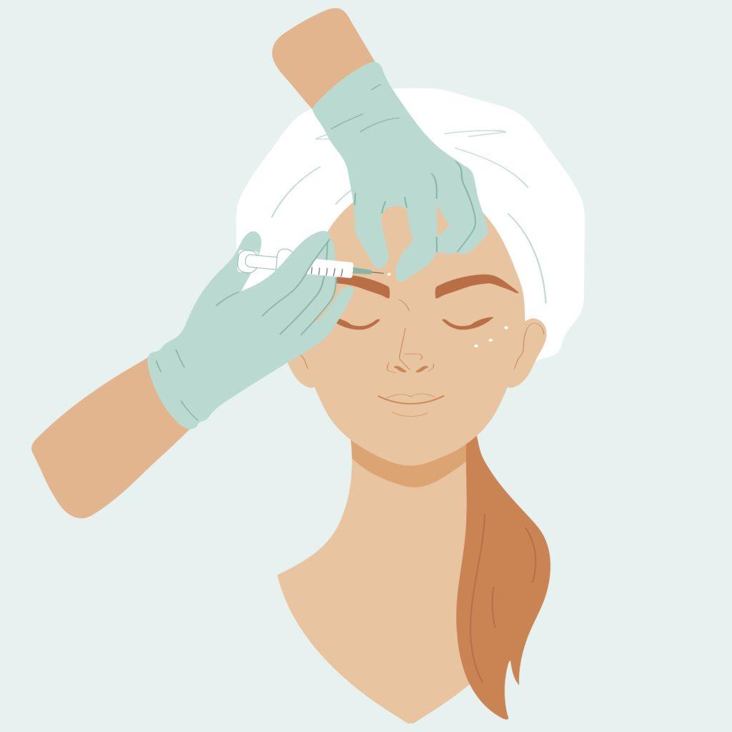 Botox Injections Illustration